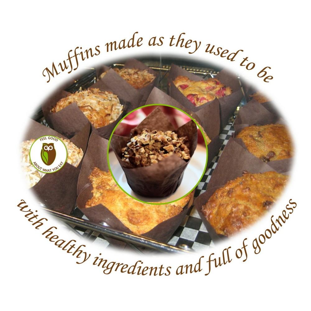 Healthy Owl Carrot Raisin Muffin - Gluten Free, Vegan, Dairy Free - half dozen box