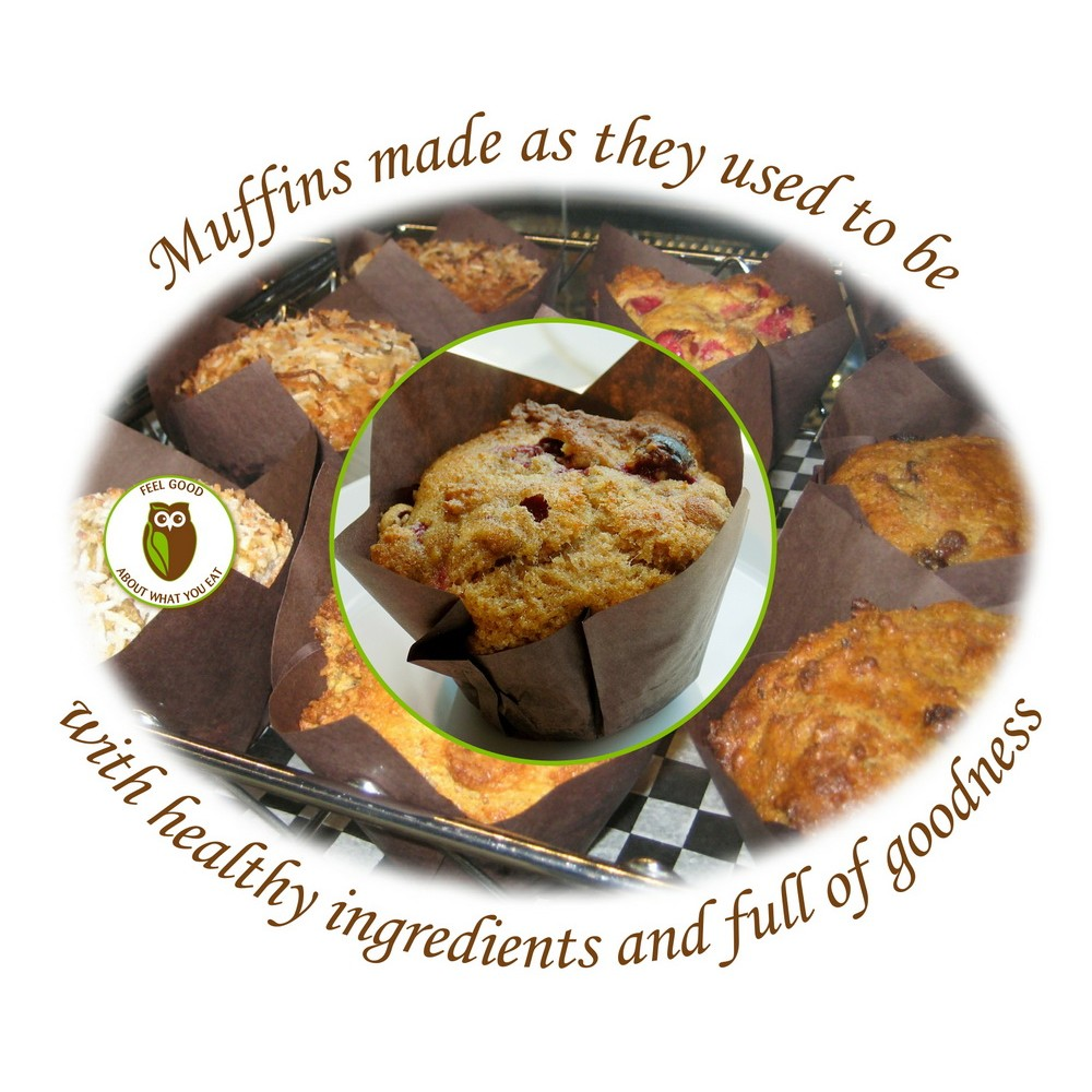 Healthy Owl Cornmeal Cranberry Lemon Muffins - 1/2 dozen box