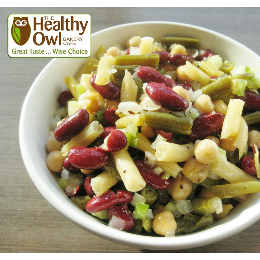 Healthy Owl Four Bean Salad - Family Size (1 litre)
