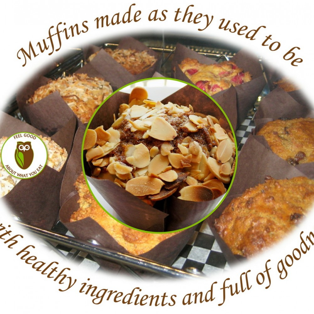 Healthy Owl Lemon Zucchini Muffins - Gluten-Free & Dairy Free - 1/2 dozen box