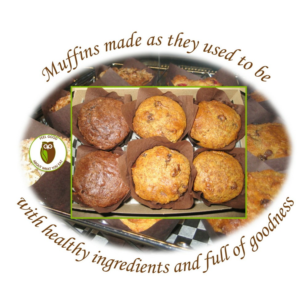 Healthy Owl Box of Assorted Muffins - half dozen