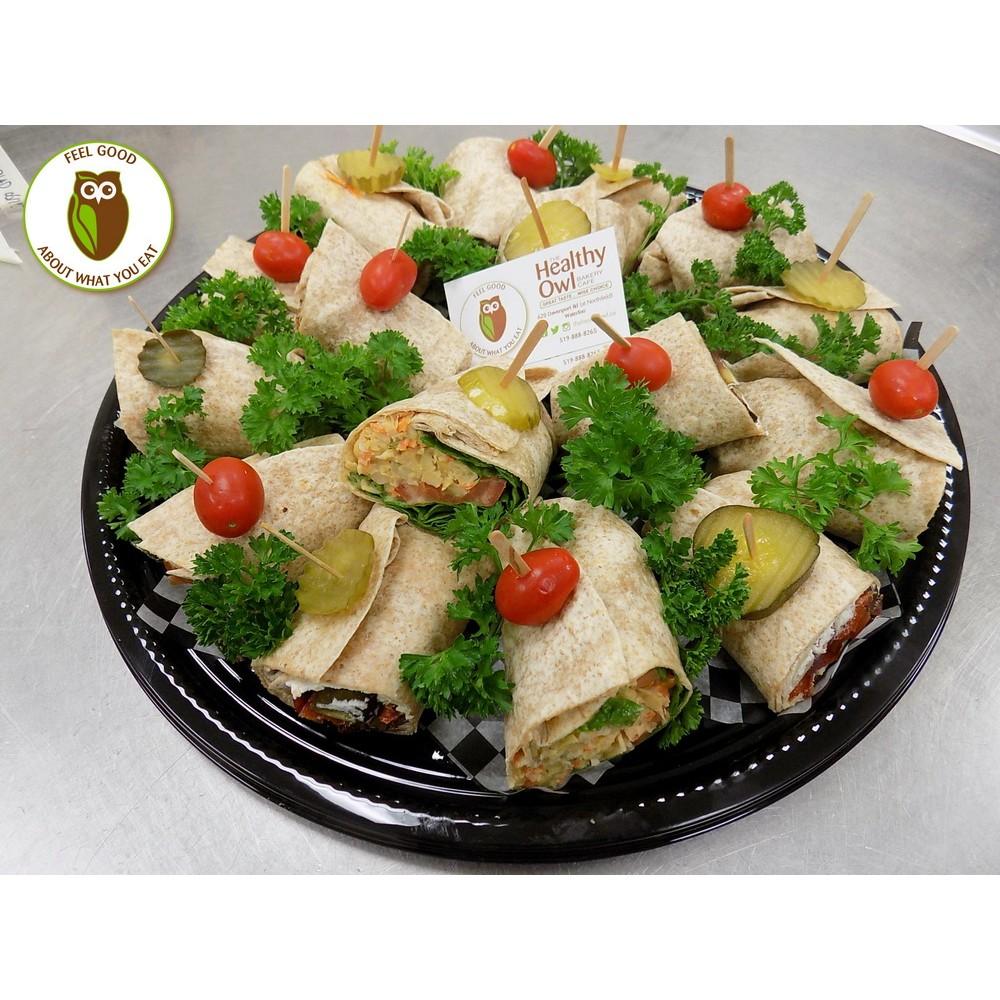Healthy Owl Luncheon Sandwich Wraps Tray