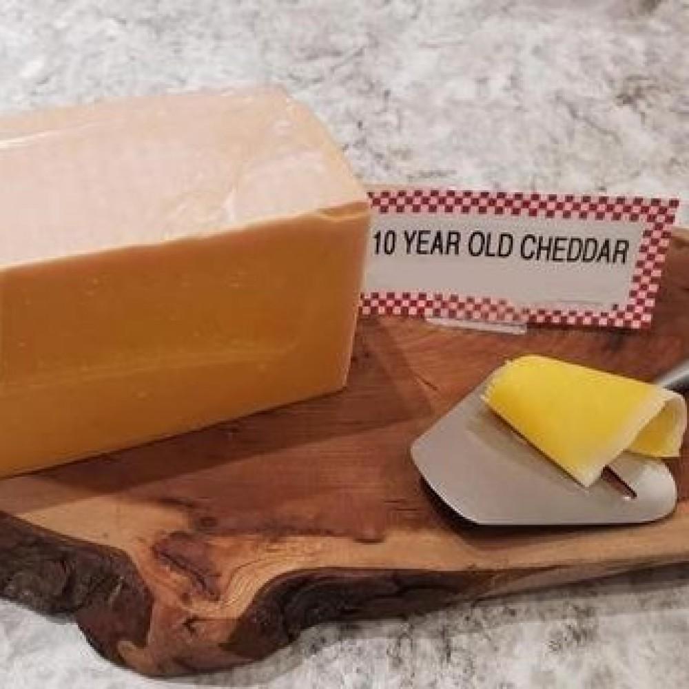 Fresh Cut 10 Year Old Cheddar (per 1/2 lb.)