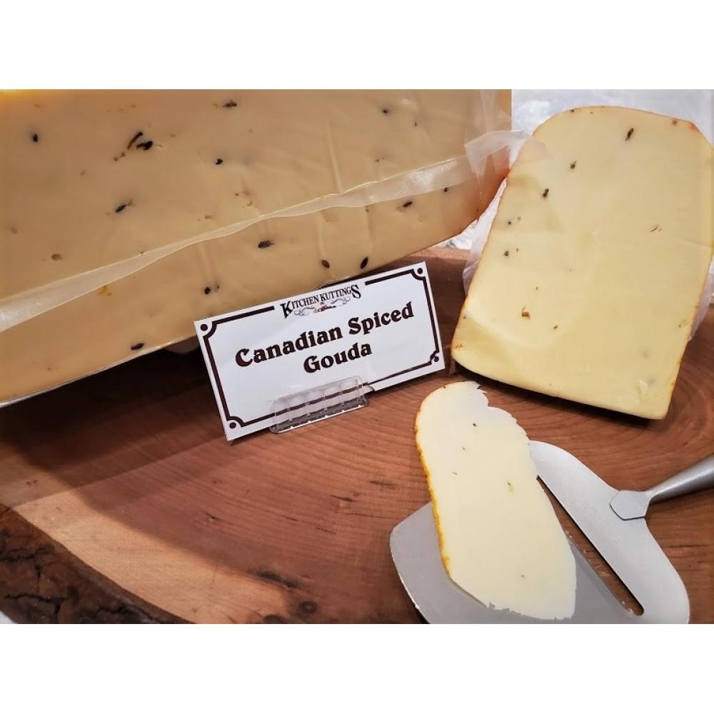 Fresh Cut Canadian Spiced Gouda  (lactose free) (per 1/2 lb.)