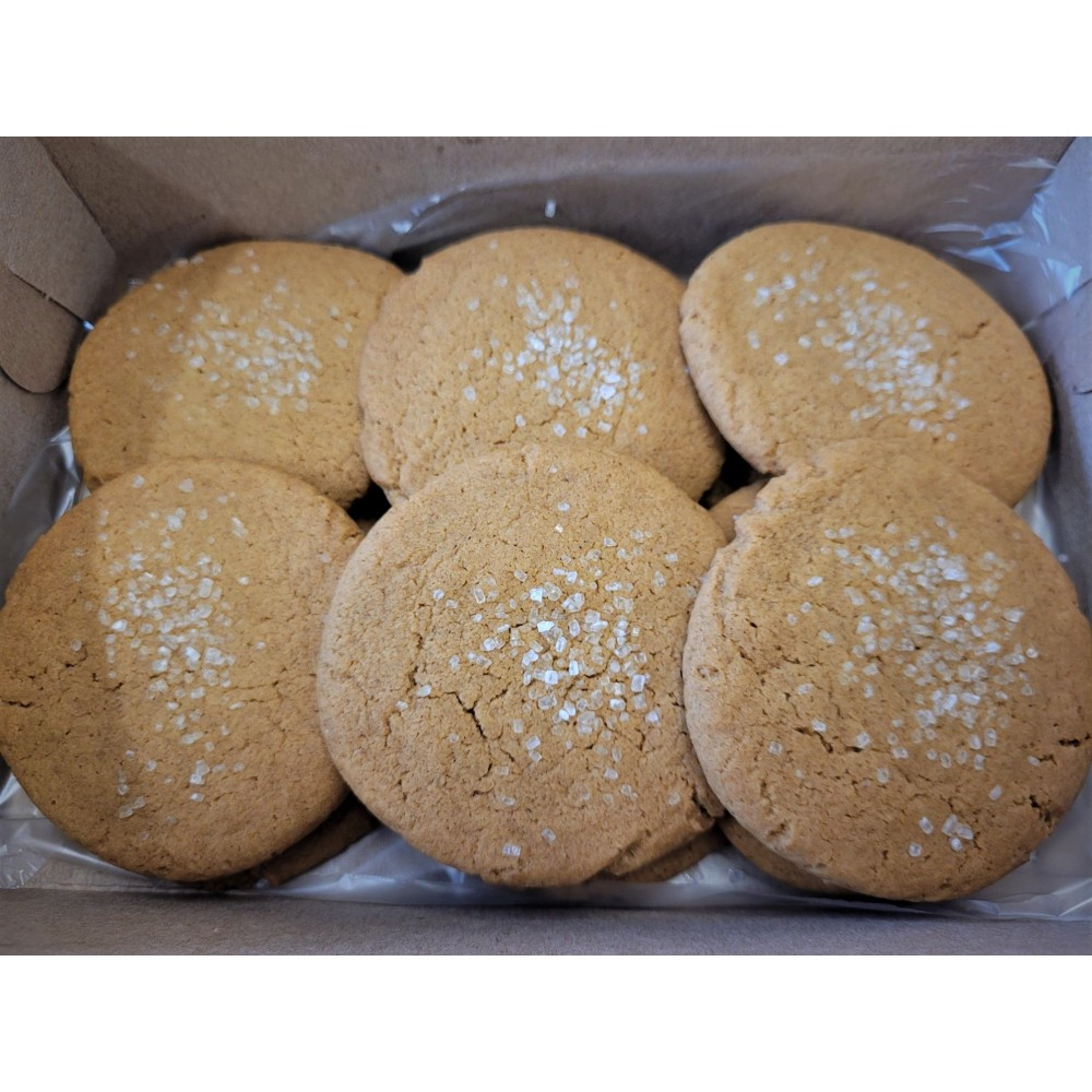 Old Fashioned Ginger Molasses Cookies (12 pcs.)