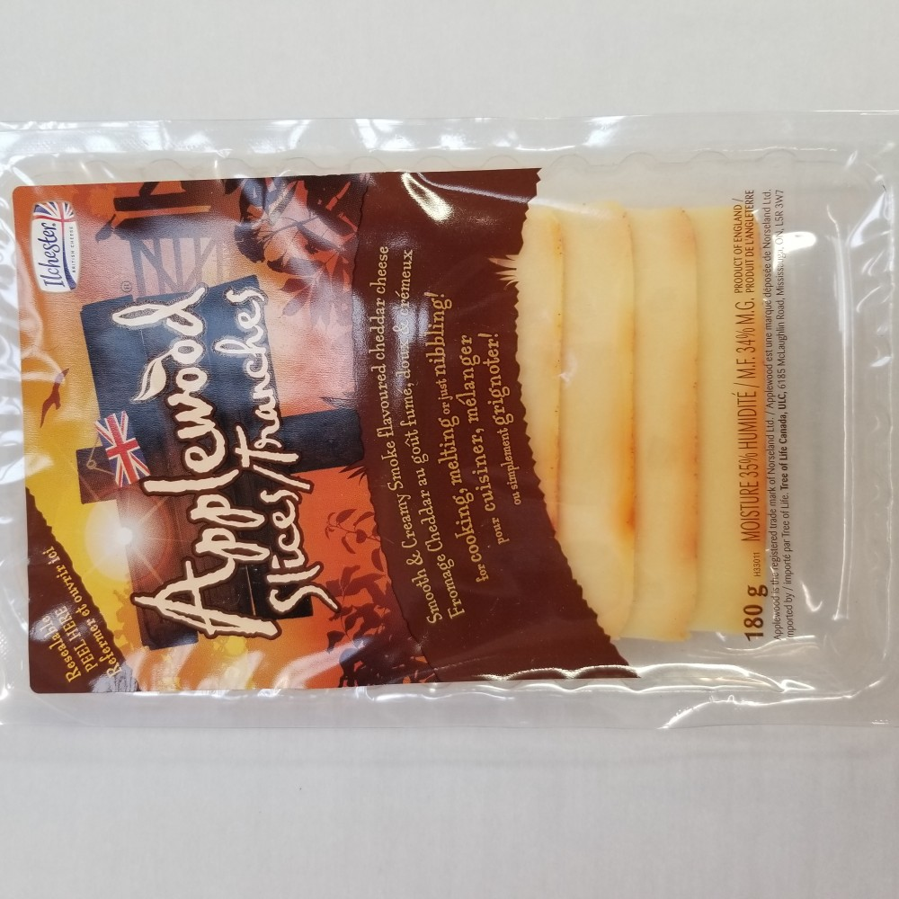 Applewood Smoked Cheddar - sliced