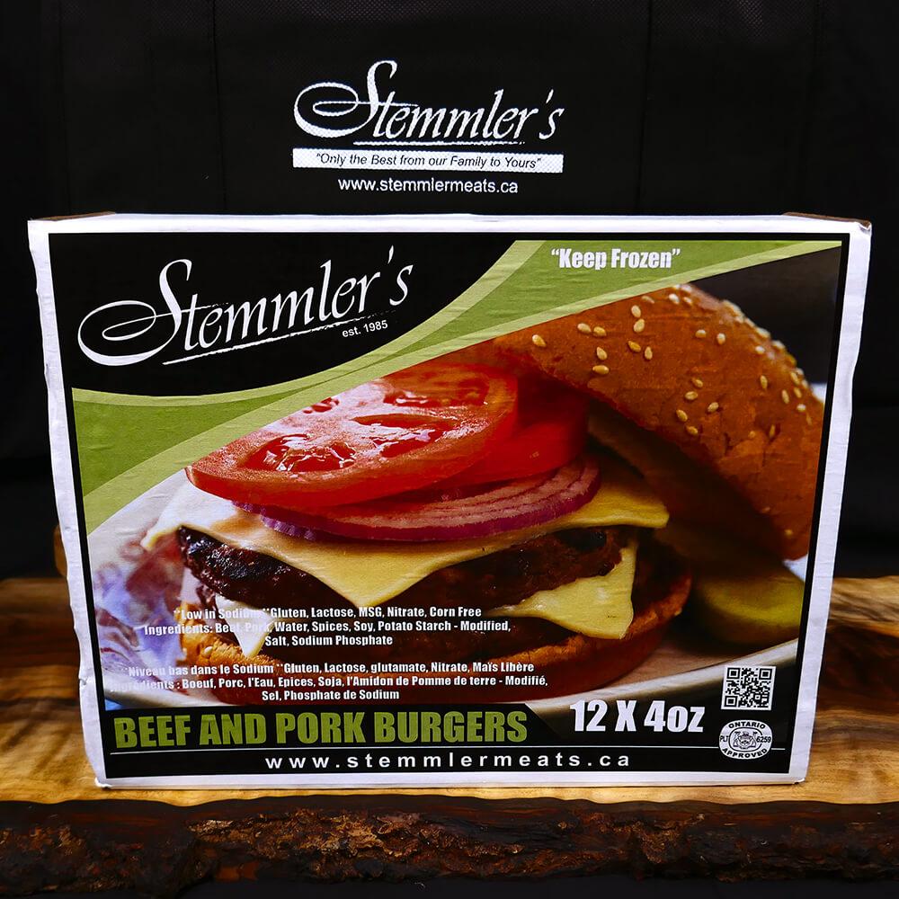 Burgers - Beef & Pork (12 x 4 oz)